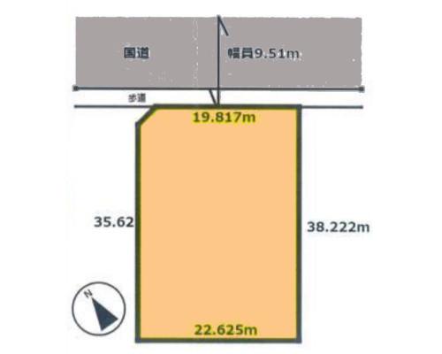 鎌ケ谷市 新京成線北初富駅の売事業用地画像(1)
