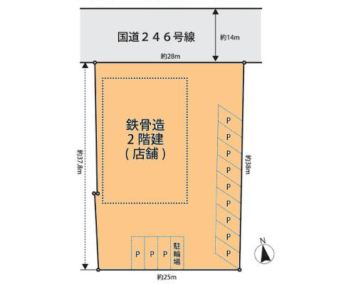 秦野市 小田急小田原線渋沢駅の売事業用地画像(1)