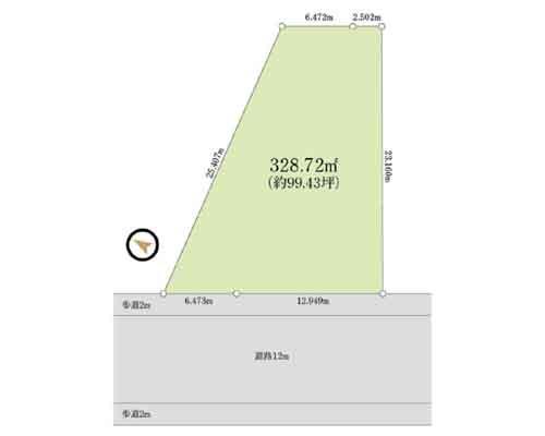 さいたま市緑区 JR武蔵野線東浦和駅の売事業用地画像(1)