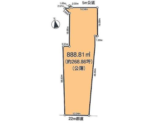 あきる野市 JR五日市線武蔵増戸駅の売事業用地画像(1)