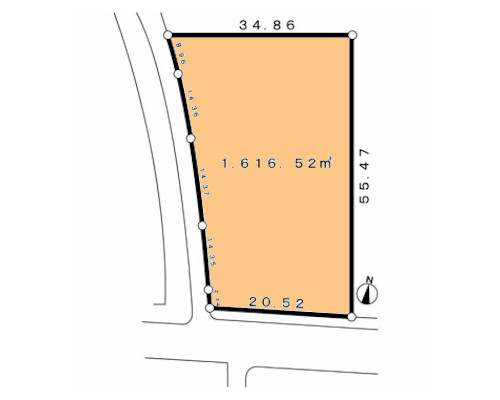立川市 西武拝島線武蔵砂川駅の売事業用地画像(1)