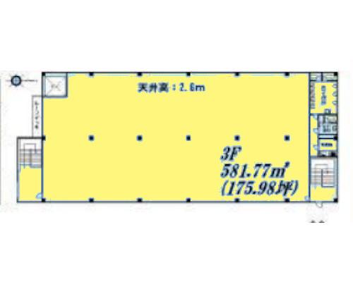 横浜市港北区 ブルーライン北新横浜駅の貸工場・貸倉庫画像(3)
