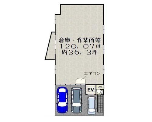 越谷市 東武伊勢崎線大袋駅の貸倉庫画像(1)