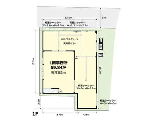 さいたま市中央区 JR埼京線北与野駅の貸工場・貸倉庫画像(1)