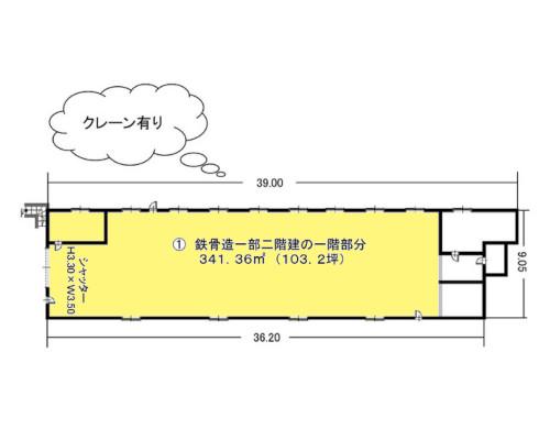 入間郡三芳町 東武東上線ふじみ野駅の貸工場・貸倉庫画像(1)