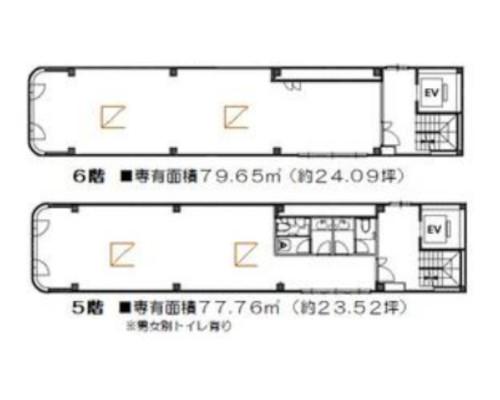 中央区 JR総武本線馬喰町駅の貸事務所画像(3)
