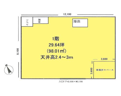 江東区 JR中央・総武緩行線亀戸駅の貸工場・貸倉庫画像(1)