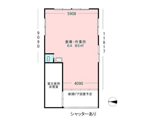 江東区 都営新宿線大島駅の貸倉庫画像(1)
