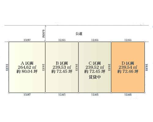 横浜市都筑区 グリーンライン川和町駅の貸地画像(1)