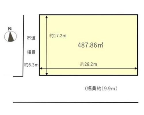横浜市都筑区 JR横浜線鴨居駅の貸地画像(1)
