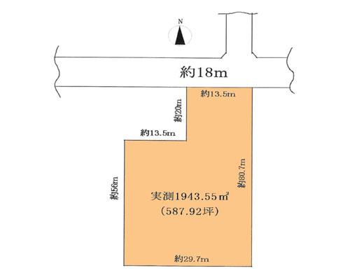 新座市 西武池袋線清瀬駅の貸地画像(1)