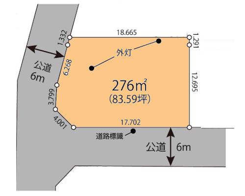 東大和市 多摩モノレール線上北台駅の貸地画像(1)