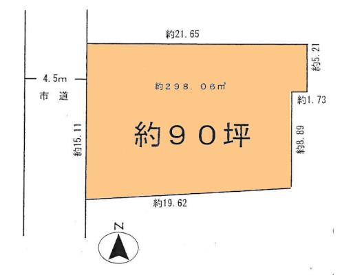 武蔵村山市 西武拝島線武蔵砂川駅の貸地画像(1)